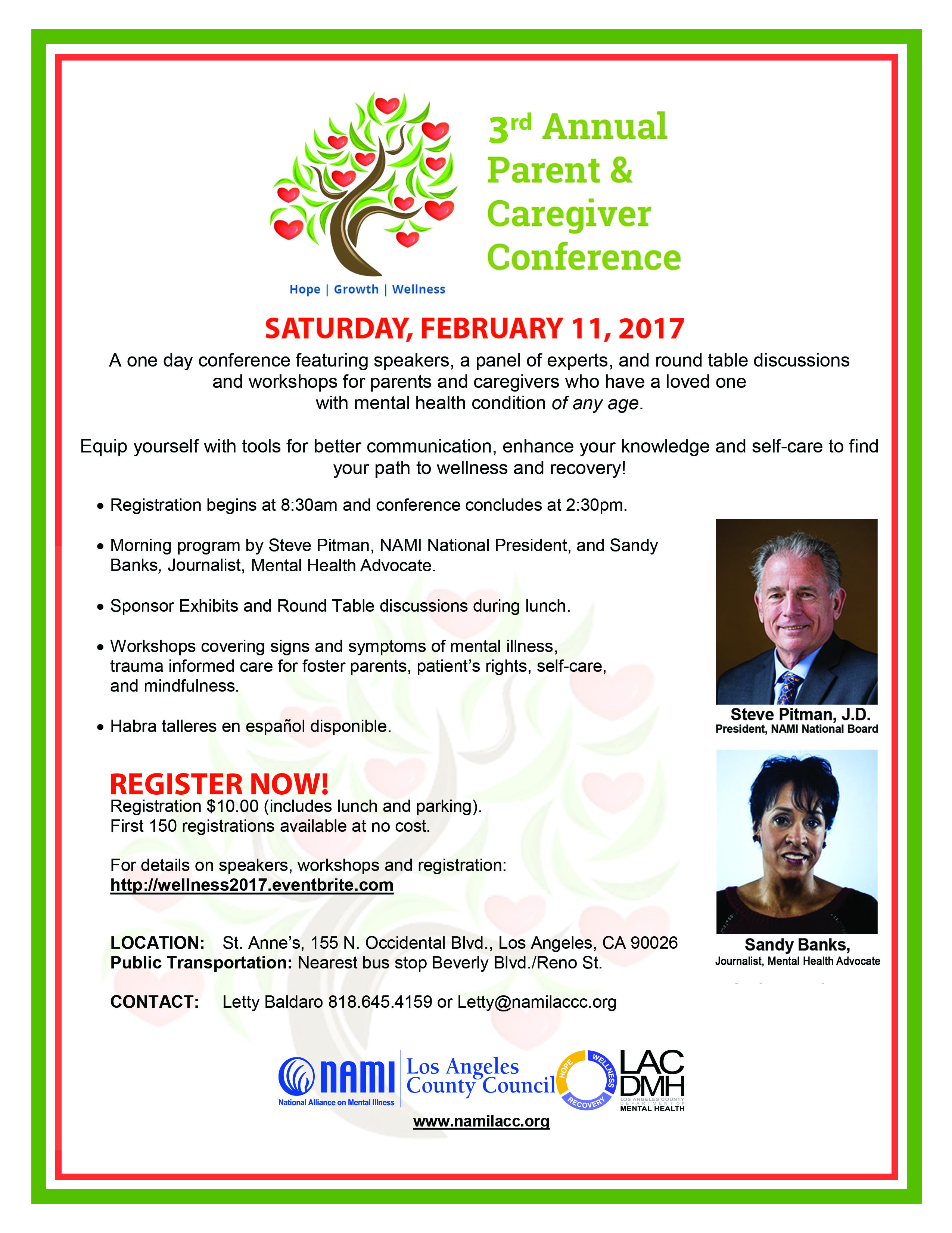 3rd Annual Parent & Caregiver Conference Saturday February 11, 2016