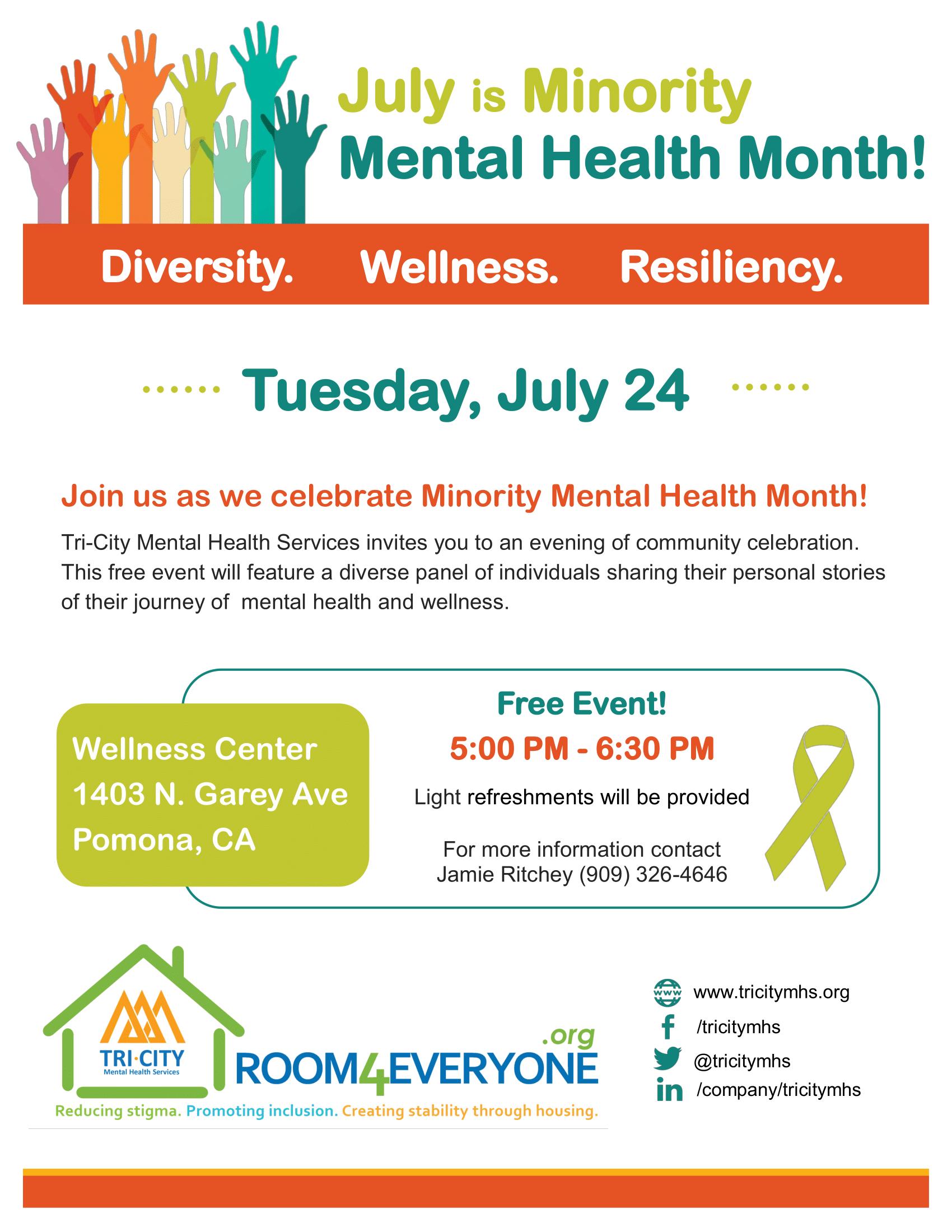 Minority Mental Health Month Event Nami Pomona Valley